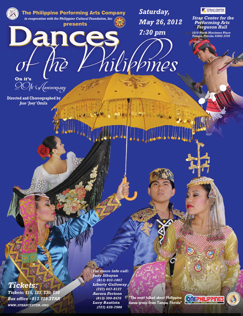 Dances Of The Philippines At The Straz Philippine Cultural Foundation Inc