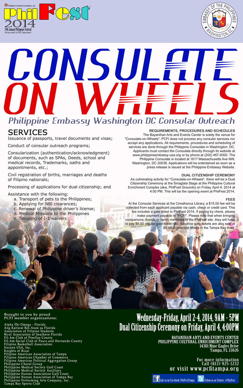 Consulate-on-Wheels 2014 on April 2-4, 2014