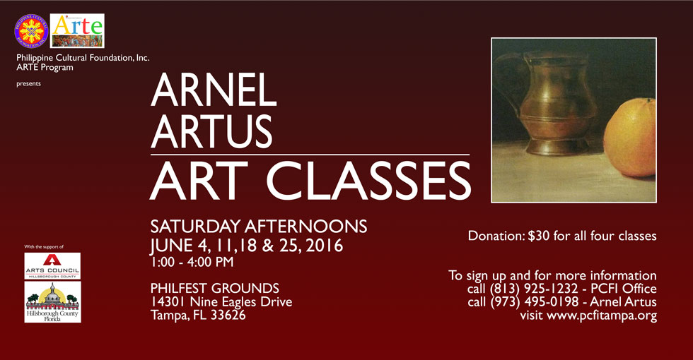 Arnel Artus Art CLasses 2016