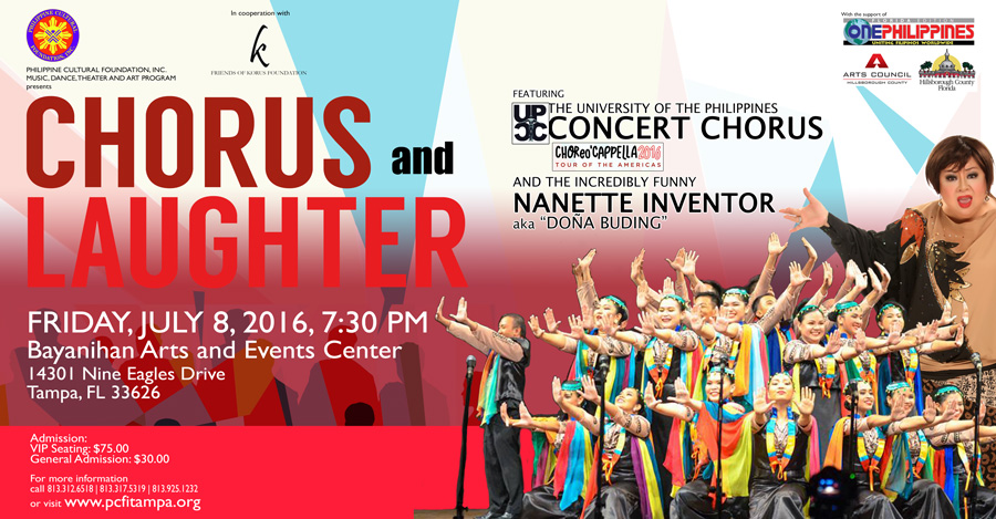 Chorus and Laughter: UP COncert CHorus and Nanette Inventor in Tampa, FL
